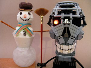 LEGO terminator Happy Holidays