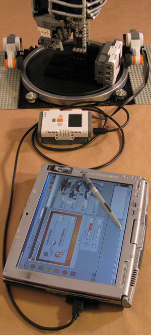 LEGO mindstorms nxt terminator tablet pc image